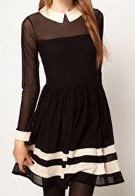 Petite robe noire et beige