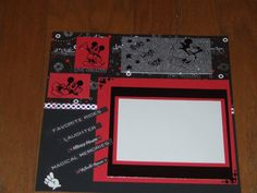 Black and Silver Disney page