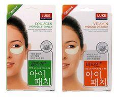 Luke  New Patented Collagen / Vitamin Hydrogel Eye Patch 5 Pair Treatment 1 Box