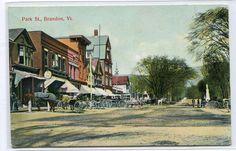 Park Street Brandon Vermont 1908 postcard