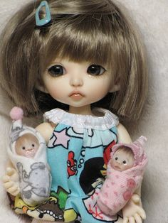 """This girl is a Pukifee Bonnie sculpt with a custom """"faceup."""" She might look a little bit too real for me... might..."""