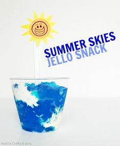 Summer Skies Jello Snack #bhgsummer