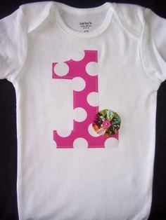 1 onesie with flower idea
