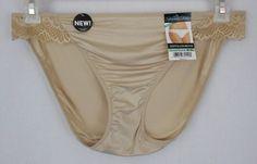 Vanity Fair Bikini Panties Beige Size 8 XL Nylon Spandex Solid Luxurious