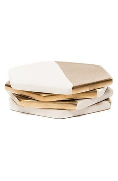 zestt 'Hampton' Gilded Ceramic Coasters (Set of 4) available at #Nordstrom