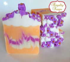 Apricot Freesia Soap / Artisan Soap / Handmade by RoyaltySoaps, $6.75