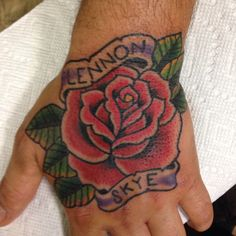 Rose tattoo on Ray's hand  To book appointment e-mail me mikeattacktattoo@gmail.com  Ig: @mikeattack_tattoo