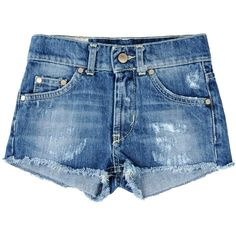 DONDUP DQUEEN Denim shorts ($59) ❤ liked on Polyvore