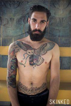 Portrait de Samuel Lhermillier, le plombier devenu modèle. #tattoo #tatouage #skinked