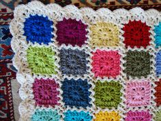 Kaleidoscope blanket - with tutorials for zigzag joining and the edging.  Gorgeous!