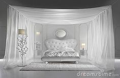 White Luxurious Bedroom with details
