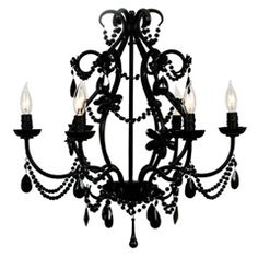 Maura Daniel Eleanor Chandelier Black Glamourous Goth. love it.