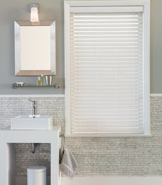 Beau Privacy And Light Are Big Issues When Choosing Bathroom Window Treatments