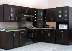 diseños de cocinas en mdf color cafe - Buscar con Google