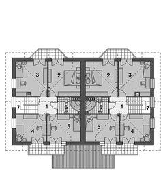 Projekt domu Trivento Termo 121,94 m2 - koszt budowy 175 tys. zł - EXTRADOM Floor Plans, Flooring, How To Plan, House, Wood Flooring, Floor Plan Drawing, Floor, House Floor Plans