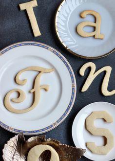 DIY Typography Cookies