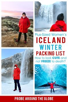 What to wear in Iceland in winter? Check out my Iceland winter packing list for plus-sized women for cute and warm Iceland winter clothes. #icelandwinter #wintergear #plussizedpackinglist #wintericeland #icelandpackinglist Winter Packing, Packing List For Travel, Europe Travel Tips, European Travel, Packing Lists, Travel Guides, Backpacking Europe, Iceland Travel, Winter Clothes