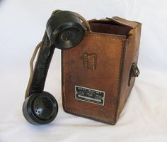 How cool is this?  Vintage Linemans Phone West Test Set by Automatic Electric