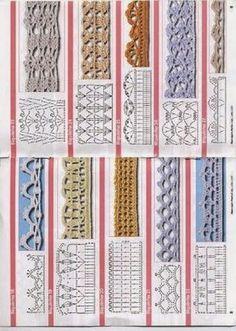 Rosa acessórios em tricô & crochê: Biquinhos de crochet