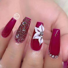 elegant nail art designs for party 40 ~ Modern House Design Nail Art Designs, Long Nail Designs, White Nail Designs, Nails Design, Matte White Nails, Red Acrylic Nails, Red Nails, Pastel Nails, Bling Nails