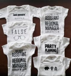 The Office onesie, Assistant to the Regional Manager Onesie, Regional Manager Onesie, The Office TV Funny Baby Clothes, Funny Babies, Babies Clothes, Babies Stuff, Diy Clothes, Boy Onesie, Onesies, Aunt Onesie, Regional Manager