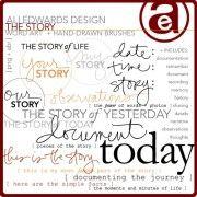 The Story Word Art & Brushes by Ali Edwards at DesignerDigitals.com