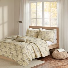 Shop for Madison Park Pure Luna Yellow 4 Piece Cotton Printed Coverlet Set. Get free shipping at Overstock.com - Your Online Fashion Bedding Outlet Store! Get 5% in rewards with Club O!