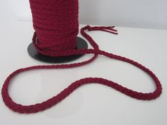"""1/2"""" Braided Fabric Trim by the Yard Red Wine 3 Strand Braided Trim Lingerie clothing Craft sewing  Braid Trim for Belt Bracelet Necklace"""