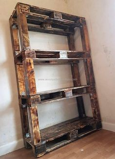 Placing this recycled pallet shelf rack has always remained the basic need of house bedrooms, kitchen, and bathroom areas. You can easily craft this shelf rack for your home with the dramatic arrangement of useless wood pallet planks. #pallets #woodpallets #palletfurniture #palletprojects #palletideas #recycle #recycledpallet #reclaimed #repurposed #reused #restore #upcycle #diy #palletart #pallet