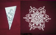 Making Paper Snowflakes and Garlands, Charming Handmade Christmas Decorations Paper Snowflake Designs, Snowflake Template, Snowflake Garland, Christmas Snowflakes, Christmas Ornaments, Snowflake Decorations, Paper Ornaments, Handmade Christmas Decorations, Holiday Crafts