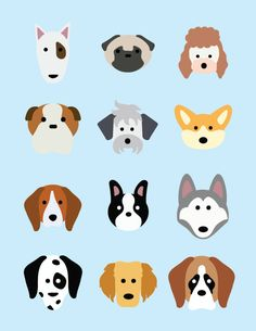 dog breed icon set by student alyssa dyck