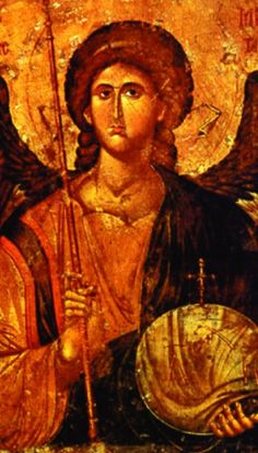 Archangel Michael he who is like god Heaven and Earth: Art of Byzantium from Greek Collections (Getty Villa Exhibitions) Byzantine Icons, Byzantine Art, National Gallery Of Art, Religious Icons, Religious Art, Art Beauté, Archangel Prayers, Russian Icons, Prayer Cards