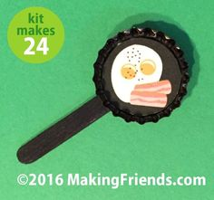 """Girl Scout Swaps Craft Kit """"Bacon & Eggs"""""""
