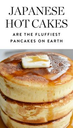JAPANESE HOTCAKES (also called Hottokeki) are the fluffiest Pancakes on earth . # breakfast recipes Japanese Hotcakes Are the Fluffiest Pancakes on Earth (and You Can Make Them) Breakfast And Brunch, Breakfast Pancakes, Breakfast Dishes, Pancake Dessert, Oatmeal Pancakes, Brunch Food, Blueberry Pancakes, Perfect Breakfast, Blueberry Breakfast