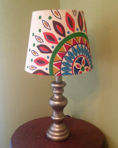 Handmade Decorated Lamp Table Black Small And Red Cottage Chic Dorm Room Romantic Dramatic