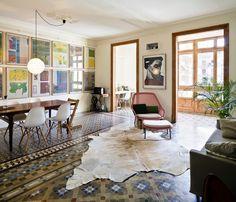Le magnifique sol en mosaïque d'un appartement à Barcelone | For intérieur