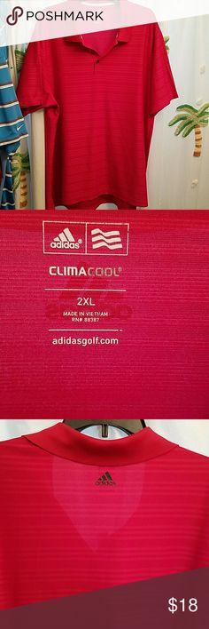 Adidas Mens golf shirt size 2XL Adidas climacool men's golf shirt size 2XL in EUC. I do discount if you bundle 2 or more Adidas Shirts Polos