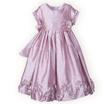 Ruffled Lavender Silk Dress - Girls Special Occasion Dresses, Boys Special Occasion Outfits