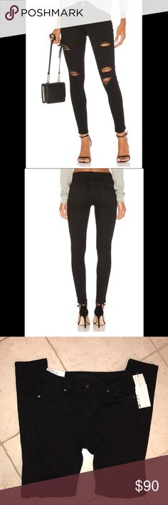 🍀NWT Joe's The Icon Flawless MidRise Skinny Ankle NWT! Size 27 with 13 inch waist laying flat. 9 inch rise and 28 inch inseam. Intentional ripped detailing throughout. 4 inch bottom leg opening. Joe's Jeans Jeans Skinny