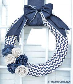 Denim Wreath Tutorial - in only 10 minutes!!