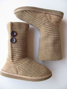 Justice for Girls Camel Colored Sweater Boots Size 2 VVGUC