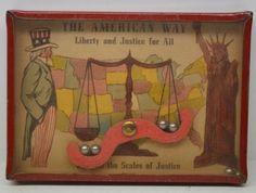 The American Way, Scales of Justice, vintage dexterity puzzle