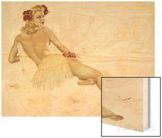 Varga Girl, February 1942  By: Alberto Vargas Art on Wood