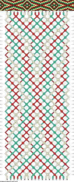 Muster # 68796, Streicher: 18 Zeilen: 46 Farben: 3