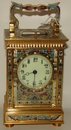 Buy online, view images and see past prices for French Carriage Clock Cloisonne Case Repeater. Invaluable is the world's largest marketplace for art, antiques, and collectibles. Antique Lamps, Antique Clocks, Vintage Clocks, Fancy Watches, Classic Clocks, Carriage Clocks, Clock Shop, Wall Clock Online, Father Time