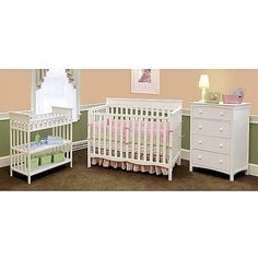 Child of Mine by Carteru0027s - Woodhaven 4-in-1 Crib Dresser  sc 1 st  Pinterest : crib dresser and changing table set - pezcame.com