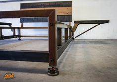The Weld House Lowboy bed frame is an industrial design made from TIG welded heavy wall steel tubing and plate steel. It will last forever with no creaking or breaking. Steel Furniture, New Furniture, Furniture Design, Bed Frame Design, Diy Bed Frame, Bed Frames, Cama Industrial, Industrial Design, Industrial Bed Frame