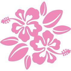 Silhouette Design Store - View Design #10873: hibiscus flower bunch