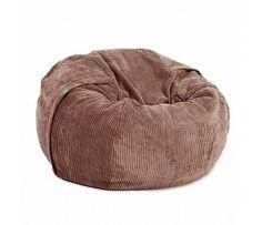 Beanbag Cord velvet single brown polyester ø110x70cm 600liter