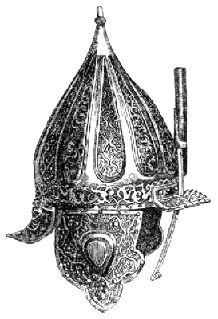 Zrinyi Miklós (1566) sisakja a bécsi udv.gyüjteményben.